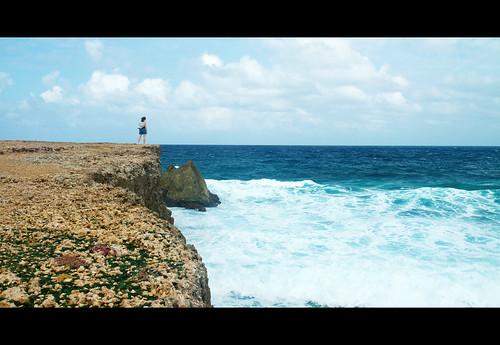 ocean cliff aruba caribbean cinematic