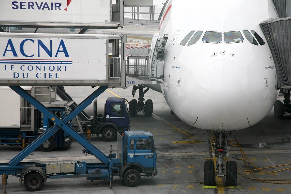 Paris aéroport Charles de Gaulle CDG, T2E, Airbus A380 Air France
