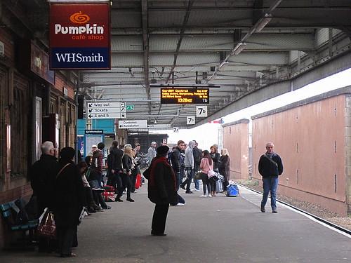Waiting for the train, Shrewsbury Station