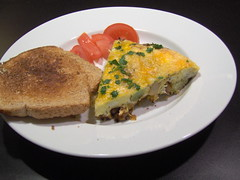 Chorizo and Potato Quiche with Whole Wheat Toast 2