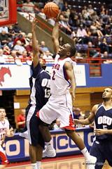 Justin Haynes goes to the basket - SMU v Oral Roberts - Collegeinsider.com tournament