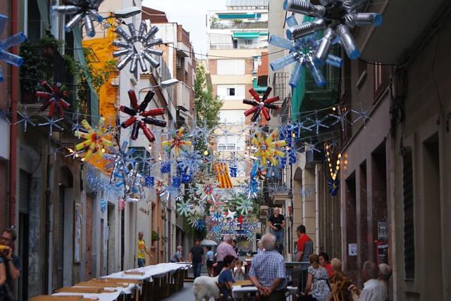 Une fête populaire dans le quartier de Gracia à Barcelone