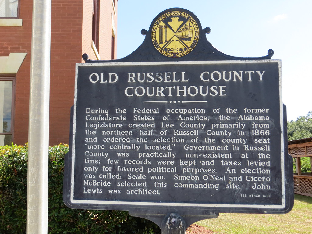 Alabama russell county hatchechubbee - Old Russell County Courthouse Marker Obverse Seale Al