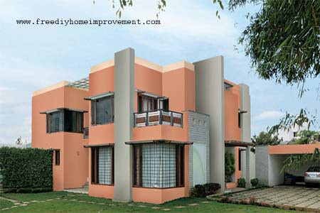 Home exterior wall paint color scheme and color combinatio for Exterior wall paint colours