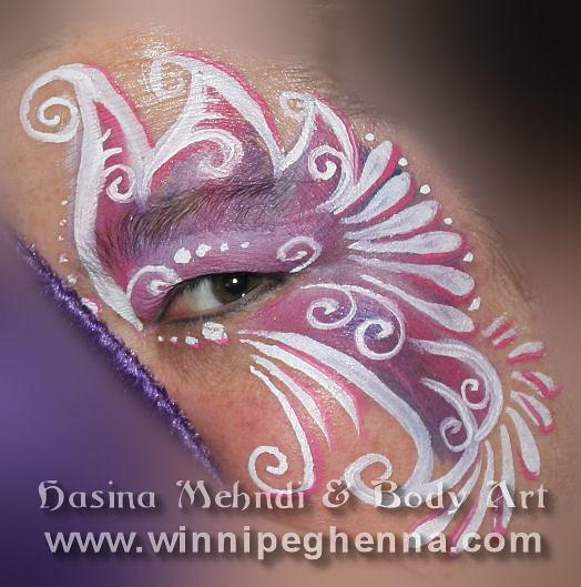 Winnipeg body painting. Hasina Mehndi & Body Art Presents: