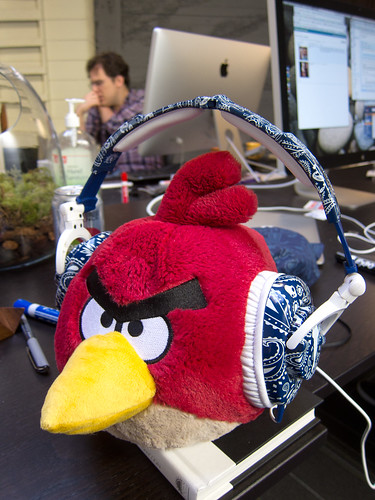 Red Angry Bird Models Snoop Dogg Skullcandy Headphones