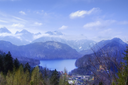 Alpsee lake and the Bavarian Alps