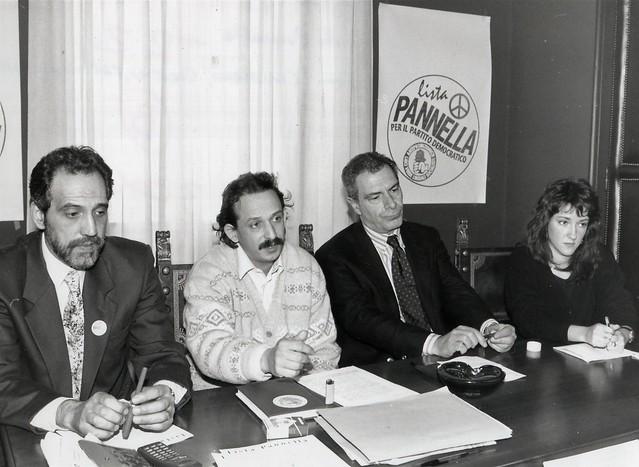 Politiche 1994 - Conferenza stampa radicale
