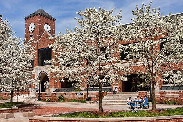 Moody Bible Institute - Chicago campus in springtime ...