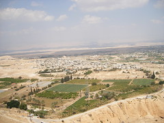 Jericho aerial view