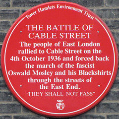 Photo of Battle of Cable Street red plaque