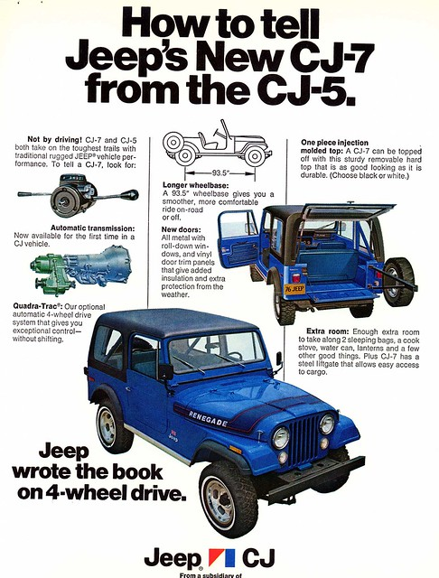 1976 Jeep Cj7 Vs Cj5 Identification Ad Flickr Photo
