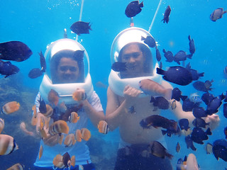Helmet diving o Boracay