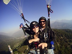 paragliding, parachute, tandem skydiving, air sports, sports, parachuting, windsports, extreme sport,