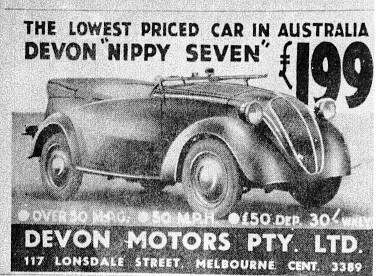 ... Devon Nippy Seven Advertisement | by Classic Cars Australia