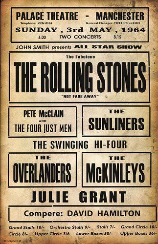 Vintage Rolling Stones Concert Poster Flickr Photo
