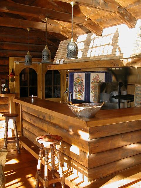 Cocina de madera r stica construimos muebles vallas de - Muebles de cocina en madera rustica ...