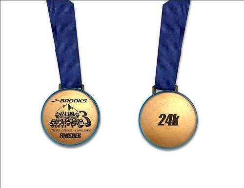 Brooks Run Happy 24k medal