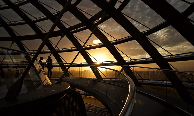 Berlin, reichtag dome in sunset light