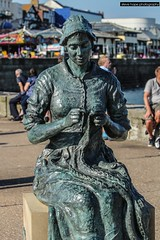 Gansey Girl sculpture, Bridlington - East Yorkshire