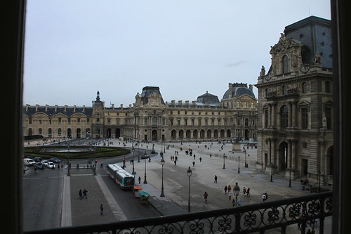 Looking out of The Louvre