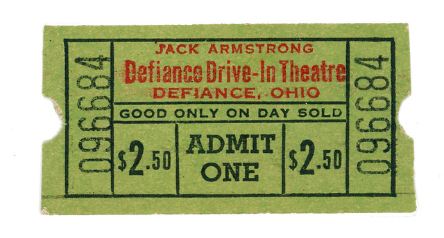 Jack Armstrong Defiance Drive-In Theatre Defiance, OH