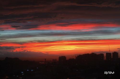 sunset canon armenia tricolor hdr 500d հայաստան մայրամուտ եռագոյն