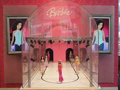 tourist attraction, red, interior design, pink, doll, barbie, toy,