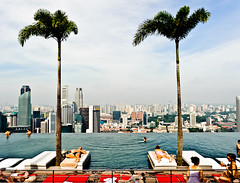 Relax by the pool with a unique skyline view of Singapore city.