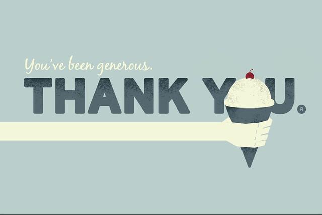 thank you ice cream cone