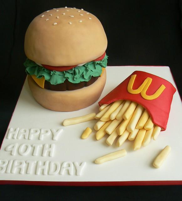 hamburger and chips cake flickr photo sharing