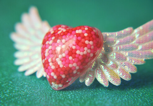Valentine's Day Angel Wing Heart Ring
