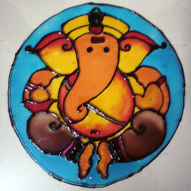 Ganesha Images For Glass Painting Glass Painting Ganesha