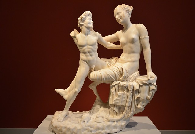 Statue Group: Satyr and Hermaphroditus, Altes Museum Berlin