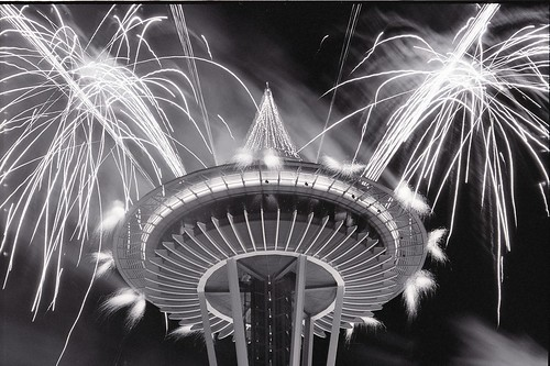 Fireworks at the Space Needle