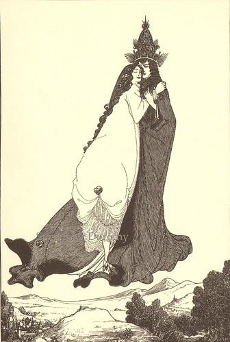 Ascension Of St Rose Of Uma Aubrey Beardsley Print