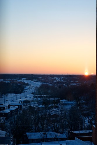 winter sky sun snow landscape
