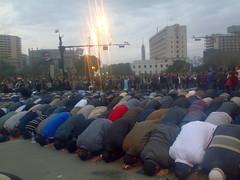 Praying in Tahrir Square