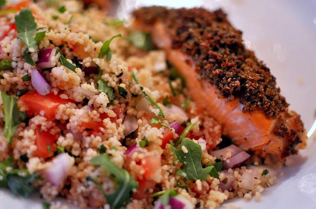 Salmon and Tabbouleh