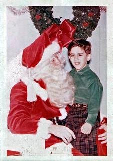 Santa and Jim, the Photographer,  December 1956
