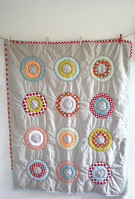 Circles and Dots Lap Quilt