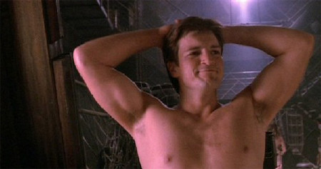 Nathan_Fillion_Shirtless http://www.flickr.com/photos/54866059@N04/5488304552