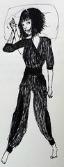 sketch, figure drawing, costume design, drawing, fashion illustration, cartoon, illustration,