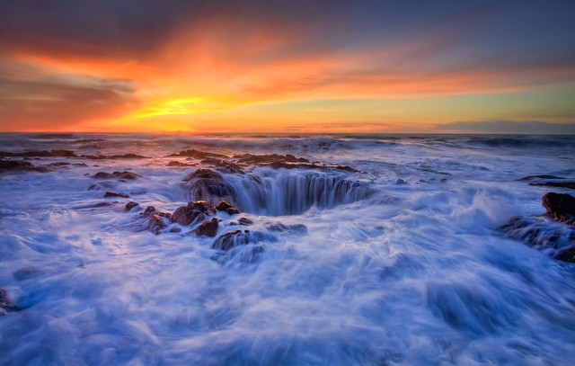 Thor's Well in HDR
