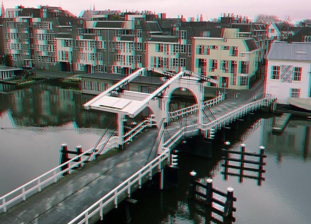 Rembrandt Bridge Leiden 3D