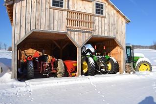 Barn and farm equipment.