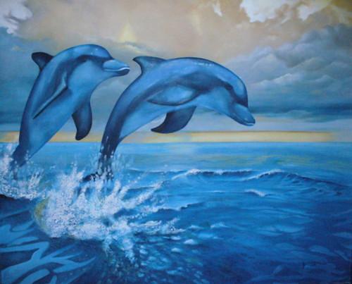 Cuadro de delfines - Imagui