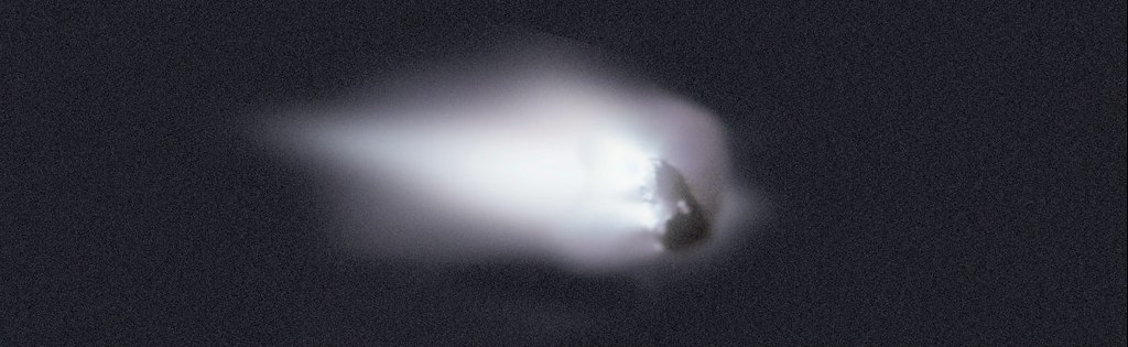 Comet Halley's nucleus as seen by Giotto