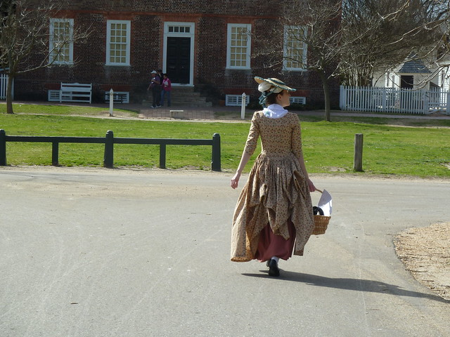 Ashley strolling in Colonial Williamsburg