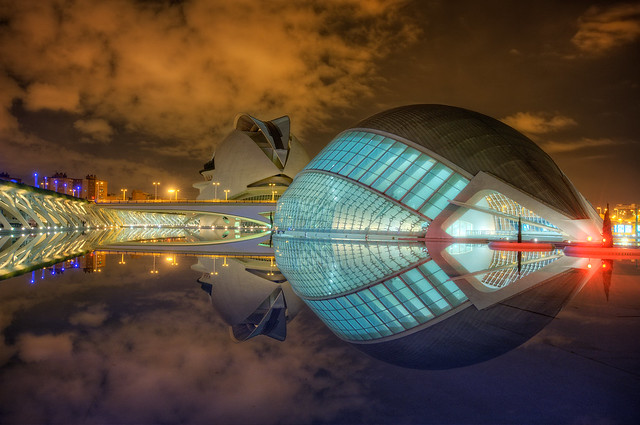 Hemisfèric, Ciudad de las Artes y las Ciencias – City of Arts and Sciences, Valencia (Spain), HDR